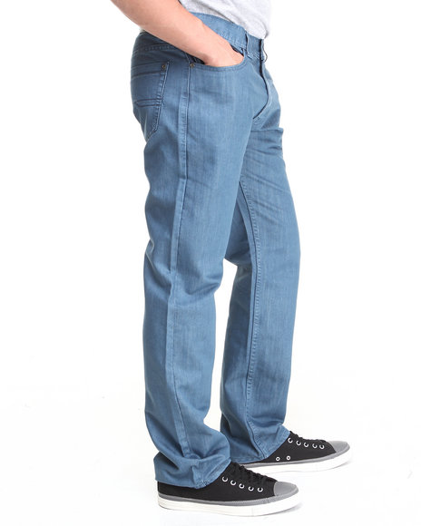 Buyers Picks - Men Blue Over-Dyed Slim/Straight Fit Denim Pants