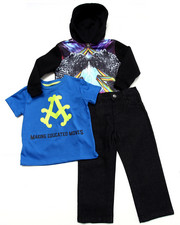Sets - 3 PC SET - PANTHER SUBLIMATION HOODY, TEE, & JEANS (2T-4T)