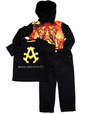 Sets - 3 PC SET - PHARAOH SUBLIMATION HOODY, TEE, & JEANS (2T-4T)