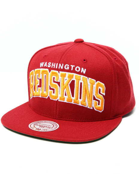 Mitchell & Ness Men Washington Redskins Nfl Throwbacks Arch Solid Red