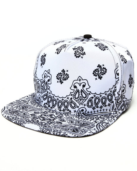Ur-ID 222912 Waimea - Men White Bandana 5 - Panel Strapback Hat