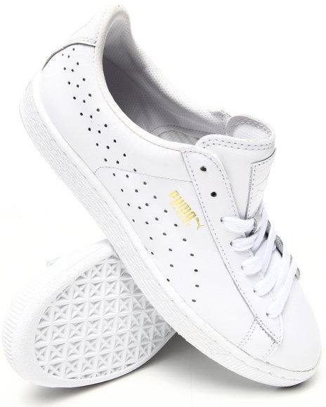 Puma - Men White Basket Classic Citi Series Sneakers