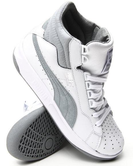 Puma - Men White Puma Advantage Mid Wild Fire Sneakers