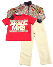 Akademiks - 3 PC SET - LEOPARD PRINT TRACK JACKET, TEE, & PANTS (4-7)