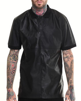 Black Kaviar - Sexion Faux Leather S/S Polo