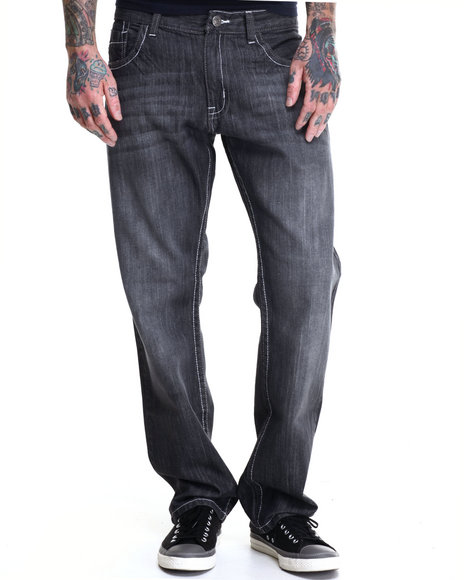 Buyers Picks - Men Grey Game Denim Jeans - $19.99