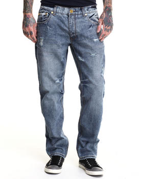 Heritage America - White Star 5-Pocket Denim Jeans