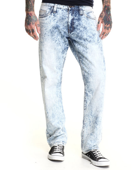 Basic Essentials - Men Light Wash Toxic Denim Jeans