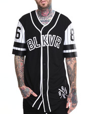 Button-downs - Shimono Contrast - Sleeve Baseball Jersey
