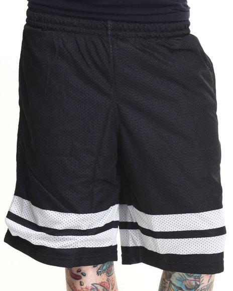 Waimea - Men Black Stripe Block Mesh Shorts