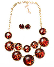 Jewelry - Leopard Bubble Earring/Necklace Set
