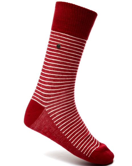 Levi's Men 168 Vintage Stripe 2-Pack Socks Red