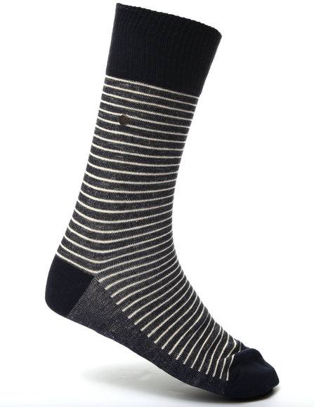 Levi's Men 168 Vintage Stripe 2-Pack Socks Navy