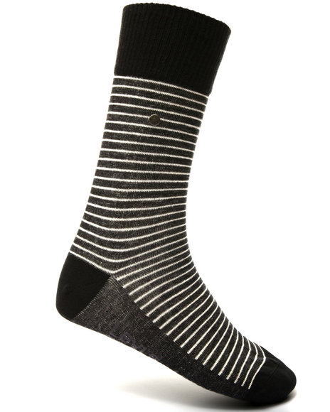 Levi's Men 168 Vintage Stripe 2-Pack Socks Black
