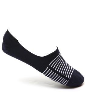 Levi's - 168 Basic Stripe No Show 2-Pack Socks