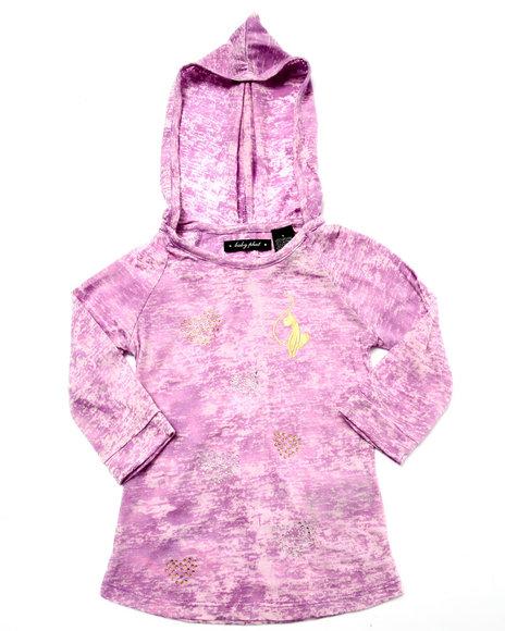 Baby Phat - Girls Violet Marbelized Hoody (4-6X)