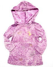 Fashion Tops - MARBELIZED HOODY (2T-4T)