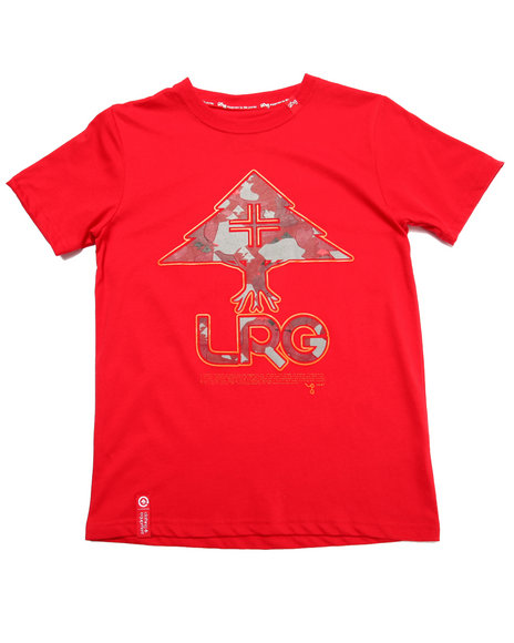 Lrg - Boys Red Tree Fill Tee (8-20)