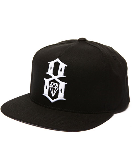 Rebel8 Men Rebel8 Logo Snapback Hat Black