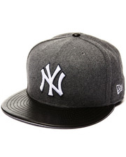 Men - New York Yankees Faux Leather Melt 5950 fitted hat