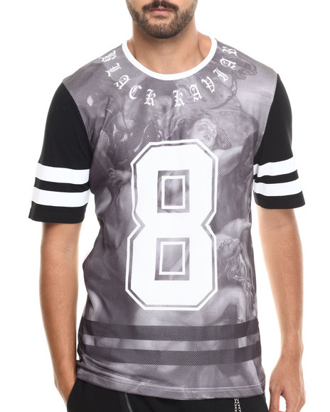 Black Kaviar - Men White Sutclif Printed Jersey Tee - $47.99