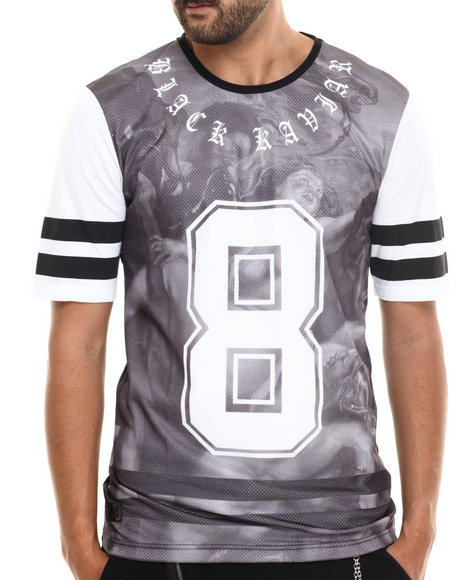 Black Kaviar - Men Black Sutclif Printed Jersey Tee