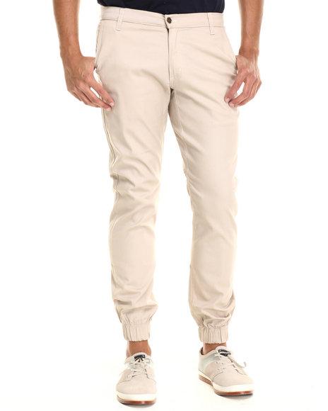 Buyers Picks - Men Khaki Chino/ Jogger Straight Fit Pants (Elastic Band Detail) - $31.99