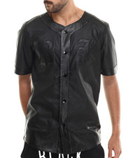 Men - Safado Faux Leather Jersey