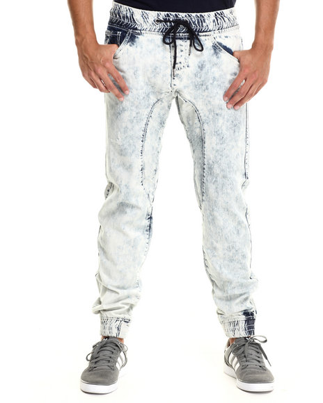 Buyers Picks - Men Light Wash Denim Long - Pant Jogger