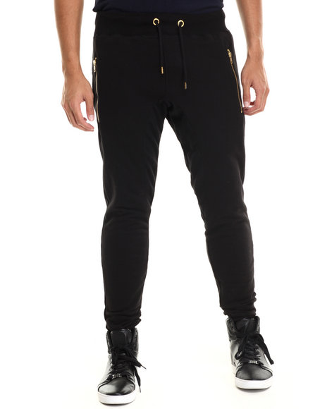 Buyers Picks - Men Black French Terry Jogger