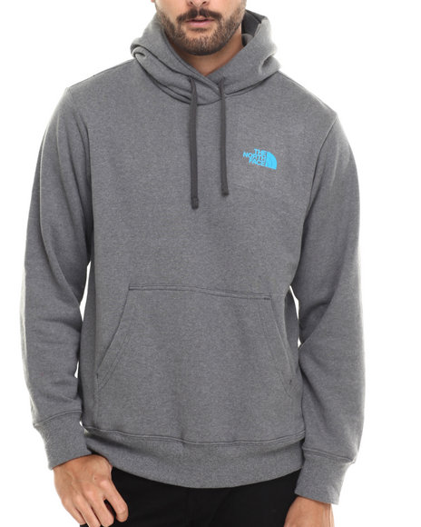 The North Face - Men Grey Mountain Stamped Pullover Hoodie