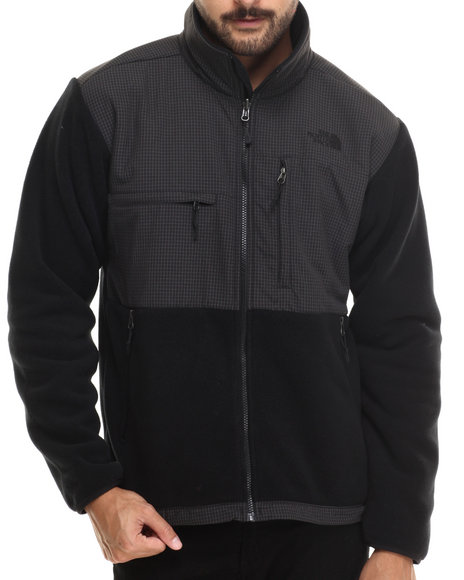 The North Face - Men Black Denali Jacket Black On Black Tonal