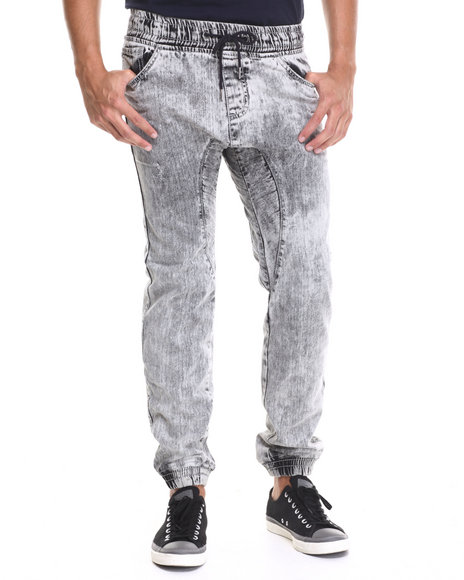 Buyers Picks - Men Grey Denim Long - Pant Jogger