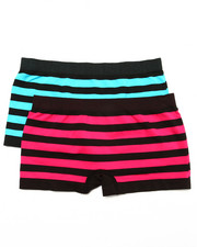 Sizes 7-16 - Big Kids - Teen Nautical Stripe 2Pk Seamless Shorts
