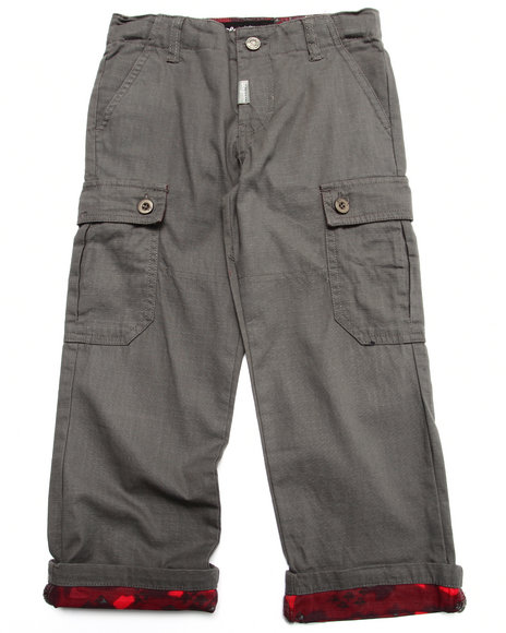 Lrg - Boys Grey Cargo Pants (4-7)