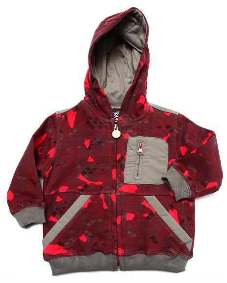 Lrg - Boys Maroon Axman Hoody (Infant)