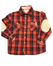 Boys - PLAID SHIRT W/ ELBOW PATCHES (4-7)