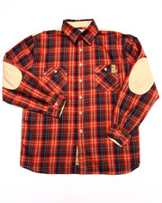 Parish - PLAID SHIRT W/ ELBOW PATCHES (8-20)