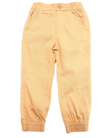 Parish - Boys Khaki Twill Joggers (4-7)