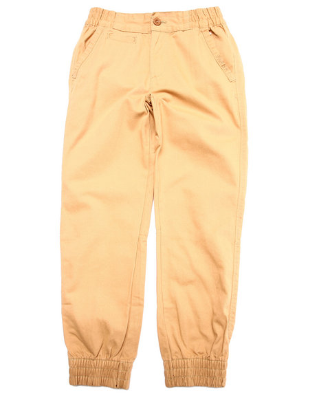 Parish - Boys Khaki Twill Joggers (8-20)