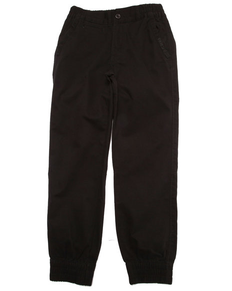 Parish - Boys Black Twill Joggers (8-20)