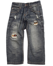 Sizes 4-7x - Kids - DISTRESSED AZTEC FLAP POCKET JEANS (4-7)