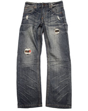 Bottoms - DISTRESSED AZTEC FLAP POCKET JEANS (8-20)
