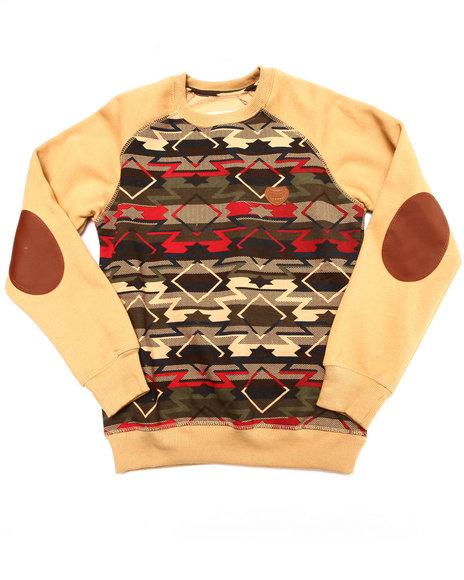 Parish - Boys Beige Aztec Crewneck Sweatshirt (8-20)