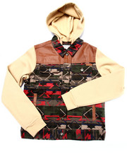 Light Jackets - AZTEC HOODED JACKET (8-20)