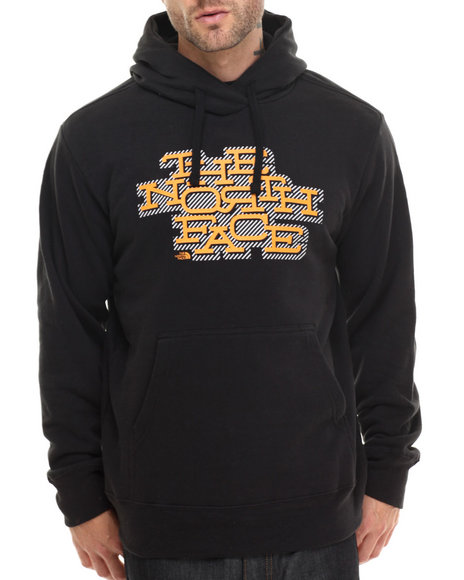 The North Face - Men Black Striped Shadow Pullover Hoodie