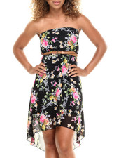 Fashion Lab - Flower Shop High Low Dress w/belt