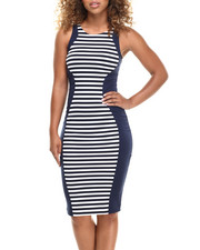 Fashion Lab - Navy Stripe Maxi Dress