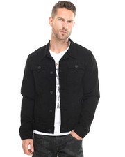 True Religion - Danny Dark Metal Denim Jacket