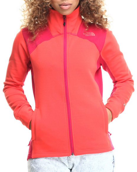 The North Face - Women Dark Pink Momentum Jacket